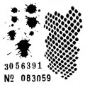 "Maska-Stencil ""Fly away""  Numbers"