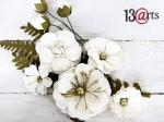 ZESTAW/Kwiaty białe kompozycja z różą