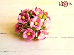 Mini sweet flowers 10 pcs pink 2 colors