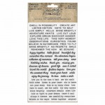 Tim Holtz rub-ons tiny text x2