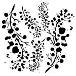 Maska-Stencil  Berries