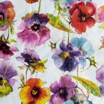 Serwetka Watercolour pansies