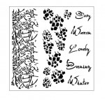 "Maska-Stencil ""COSY EVENING"" - Branch & Text"
