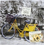 Serwetka Yellow bicycle