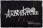"Tekturka Tropical Adventure - Napis ""tropical ADVENTURE"""