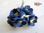 Cherry blossoms dark blue  5 pcs