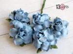 Roses 5 pcs Cobalt blue