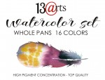 Watercolor set 16 pans - akwarele zestaw