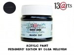 Acrylic Paint Black Cat
