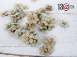 Kwiaty mini - blado-zielone  60 szt