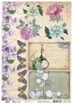 Vintage Summer A4 Vintage Flowers