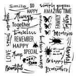 Masque-Stencil « Mes lettres »