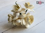 Cherry blossoms ivory light 5 pcs