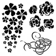 "Maska-Stencil ""COSY EVENING"" - Winter Flowers"
