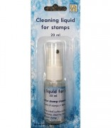 Cleaning liquid for stamps