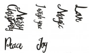 "Stempel ""Christmas wishes"""