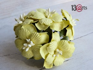 Sweet flowers yellow 5 pcs