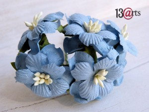 Sweet flowers blue 5 pcs