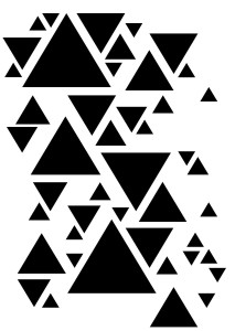 Maska COLOR BASIC - TRIANGLES