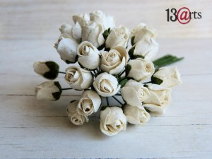 Mini roses White  25 pcs