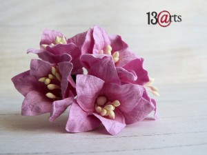 Lily flowers 5 pc - pink