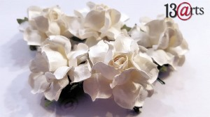 White flowers 5 pcs