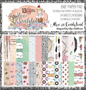 "Paper pad ""Alice in Candyland"" - SALE!"