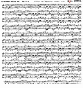 Folia - Transparent foil  MELODY