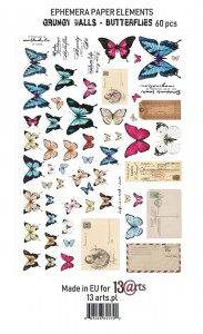 "Ephemera pack ""Grungy walls – butterflies"""