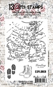 Stempel A6 Travel map