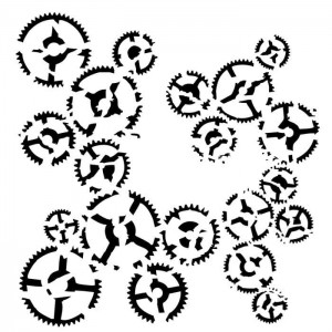 Maska-Stencil Dance of gears