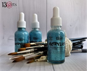 NEW ACRYLIC INK Glitter Crystal Turquoise 30ml