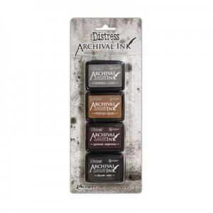 Zestaw tuszy DISTRESS ARCHIVAL mini ink pad set kit#3