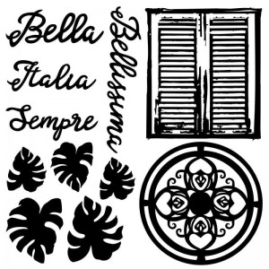 Tekturka /Chipboard set BELLA 6x6""