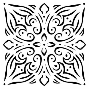 Maska-Stencil Tile ornament, BELLA