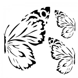 Maska-Stencil Sunrise butterflies, SUNRISE