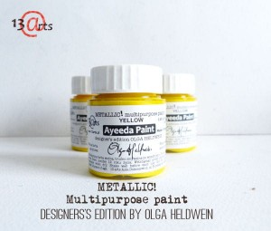 Ayeeda Paint METALLIC! Yellow
