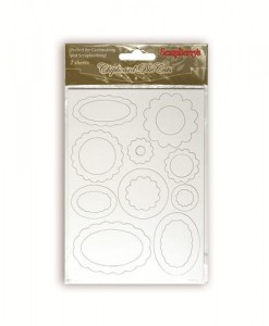 Tekturki Craft Chipboard white Tag's