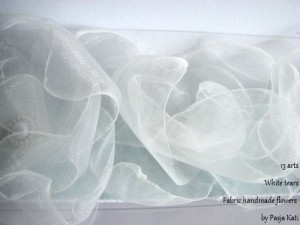 Fabric Flowers - WhiteTears -1-