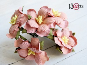 Sweet flowers pink 5 pcs