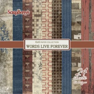"Paper pad ""Words Live Forever"""
