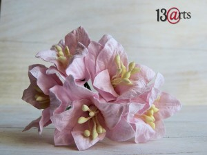 Lily flowers 5 pc - light pink