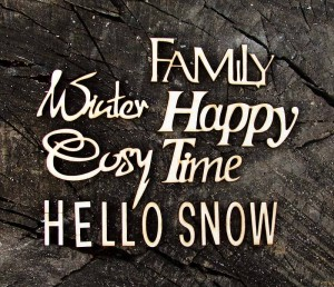 8 Elementów: Family,Happy,Time,Snow,Hello,Cosy,Winter,Together