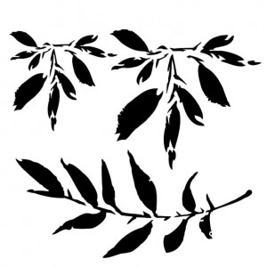Maska-Stencil  Leaves