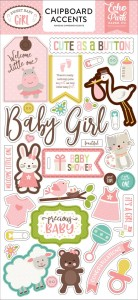 Sweet Baby Girl Chipboard accents