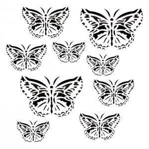 Maska-Stencil Butterflies in my heart