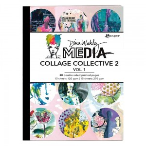 Dina Wakley MEdia Collage Collective 2 Vol. 1 - MDA71532